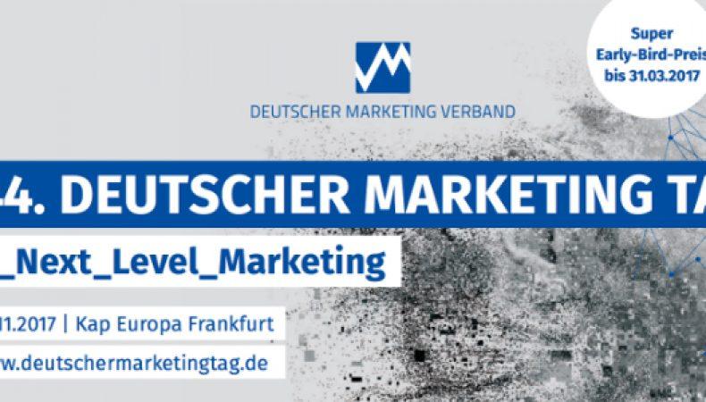44. Deutscher Marketing Tag zum Thema #_Next_Level_Marketing findet in Frankfurt statt.
