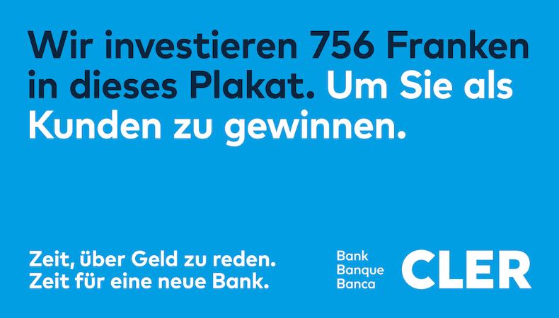 Neuer Besitzer der Coop Bank ist die Basler Kantonalbank. Sie nennt die Bank nun CLER Bank Ist CLER ein guter Name mit Logo oder braucht es einfach viel Geld wie hier....?