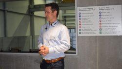 Alexander Strauch - Fatzer AG - kurz vor der Führung durch die Produktion.