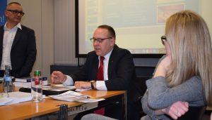 Von rechts nach links unsere Referenten: Dominique Emerich, Markus Neff und Urs E. Gattiker