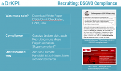 Whats App, Skype Facebook: Noch DSGVO konform für Marketing und Recruiting - 5 Min Check-Up mit DrKPI Tools.