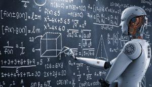 Roboter löst mathematische Aufgaben: Künstliche Intelligenz und Deep Learning