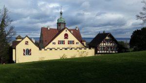 Schloss Greifenstein am Abend.