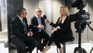 MCLago Präsident Urs E. Gattiker wird interviewt am WEF2019 in Davos