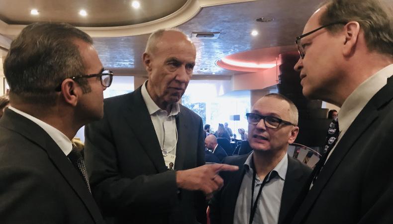 Arman Sarhaddar, John Moetteli, Urs E. Gattiker mit Francis Gurry MCLago WEF2019 Davos
