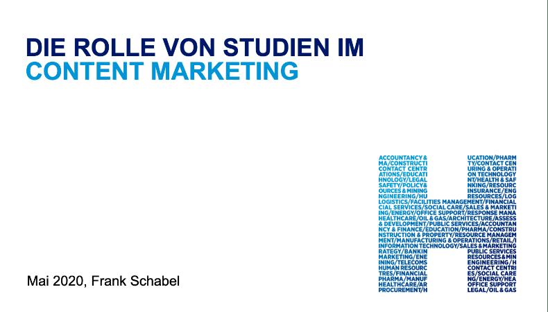 Die Rolle von Studien/Umfragen im Content Marketing