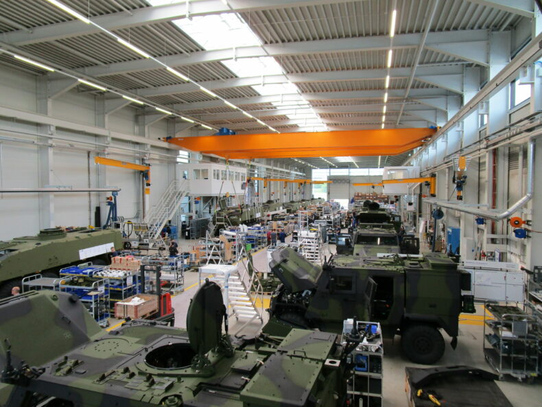 : General Dynamics European Land Systems — Mowag:<br>Betriebsbesichtigung in Tägerwilen 2021.